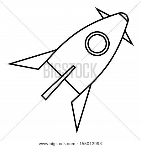 Rocket for space flight icon. Outline illustration of rocket for space flight vector icon for web
