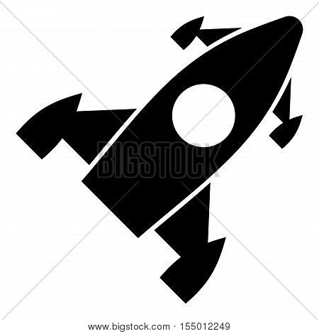Rocket icon. Simple illustration of rocket vector icon for web