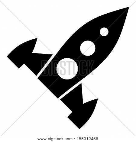 Universal rocket icon. Simple illustration of universal rocket vector icon for web