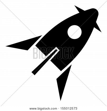 Rocket for space flight icon. Simple illustration of rocket for space flight vector icon for web