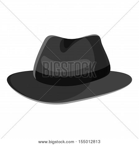 Hat icon. Gray monochrome illustration of hat vector icon for web