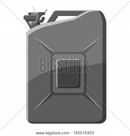 Flask for gasoline icon. Gray monochrome illustration of flask for gasoline vector icon for web