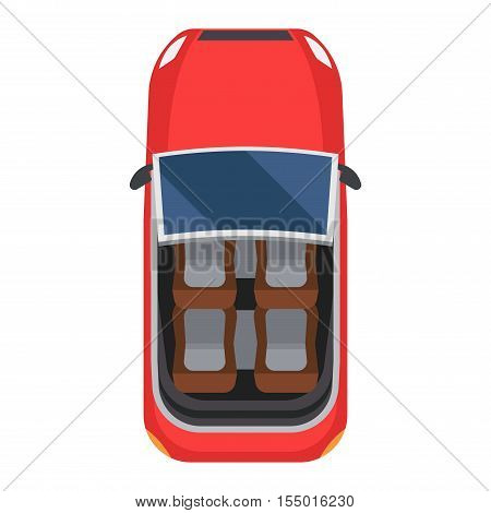 Vector cars icon isolated. From above car top view. Transportation vehicle collection design car top view motor.