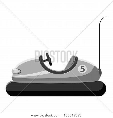 Children bumper machine icon. Gray monochrome illustration of children bumper machine vector icon for web