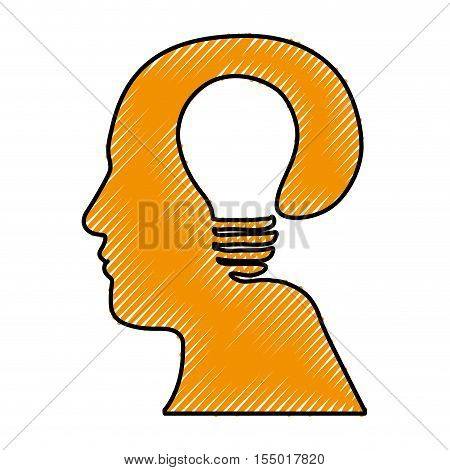 head and lightbulb abstract wisdom icon image vector illustration design
