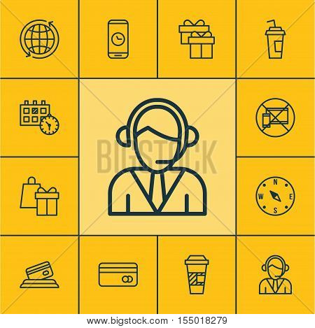 Set Of Transportation Icons On Shopping, Locate And Call Duration Topics. Editable Vector Illustrati