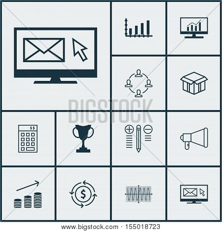 Set Of 12 Universal Editable Icons. Can Be Used For Web, Mobile And App Design. Includes Icons Such