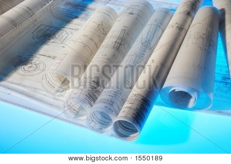 Rolled-Up Design Drawings