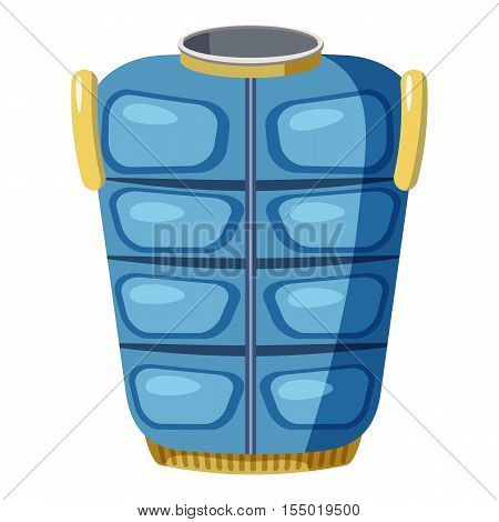 Blue warm vest icon. Cartoon llustration of blue warm vest vector icon for web