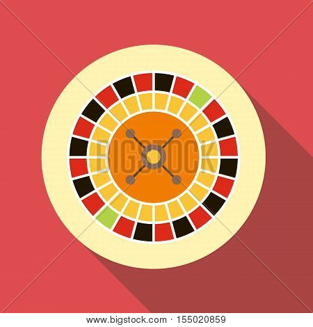 Casino roulette icon. Flat illustration of casino roulette vector icon for web