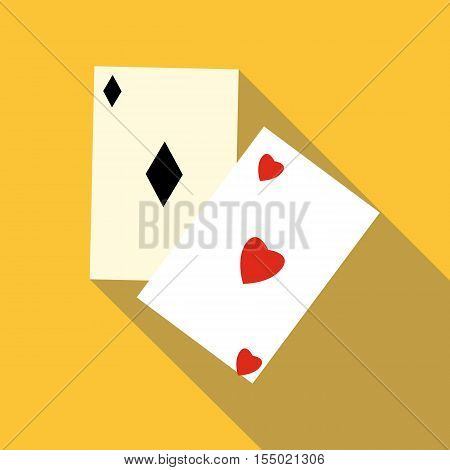 Card suit icon. Flat illustration of card suit vector icon for web