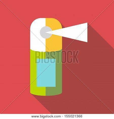 Perfume spray bottle icon. Flat illustration of perfume spray bottle vector icon for web