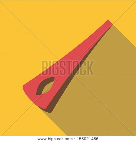 Barber barrette pin icon. Flat illustration of barber barrette pin vector icon for web