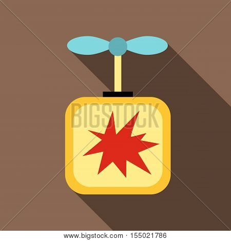 Detonator icon. Flat illustration of detonator vector icon for web