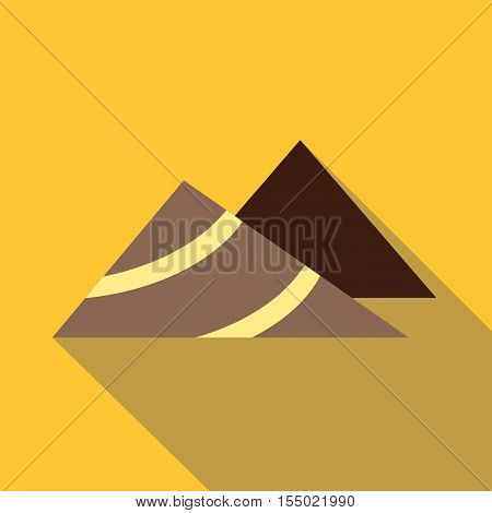 Mountains icon. Flat illustration of mountains vector icon for web
