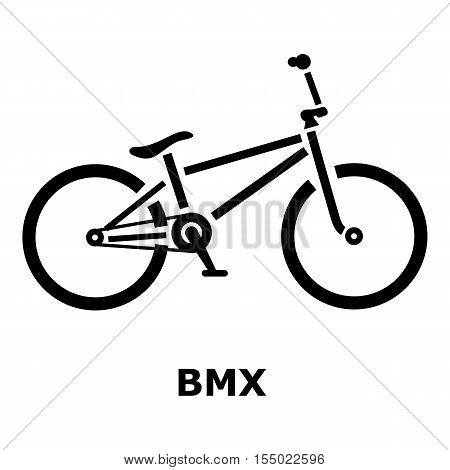 BMX bike icon. Simple illustration of BMX bike vector icon for web