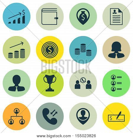 Set Of Hr Icons On Business Woman, Curriculum Vitae And Bank Payment Topics. Editable Vector Illustr
