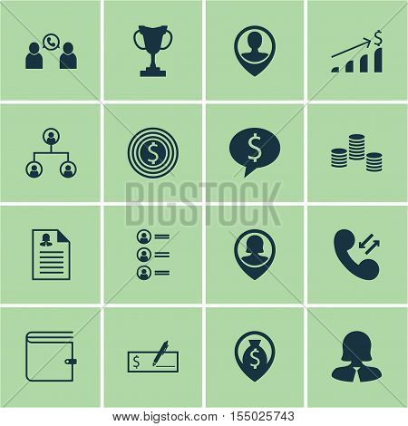 Set Of Human Resources Icons On Job Applicants, Bank Payment And Business Goal Topics. Editable Vect