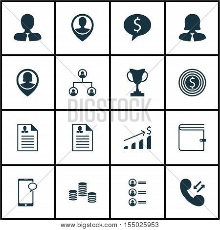 Set Of Hr Icons On Tree Structure, Employee Location And Manager Topics. Editable Vector Illustratio