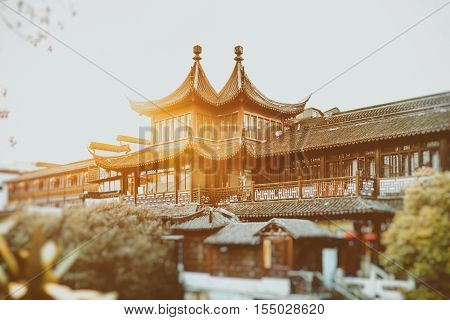 Nanjing Fuzimiao or Fuzimiao is located in southern Nanjing City on banks of the Qinhuai River. Within the area are cultural attractions shopping and entertainment. In the 3rd year of Xiankang reign of Jin Dynasty Nanking Imperial University was founded o