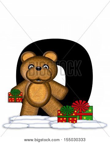 Alphabet Teddy Christmas O