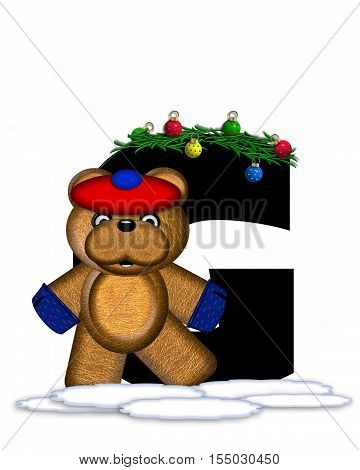 Alphabet Teddy Christmas Boughs G