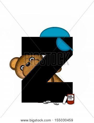 Alphabet Teddy Dental Checkup Z