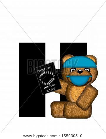 Alphabet Teddy Dental Checkup H