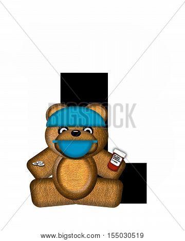 Alphabet Teddy Dental Checkup L