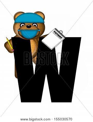 Alphabet Teddy Dental Checkup W