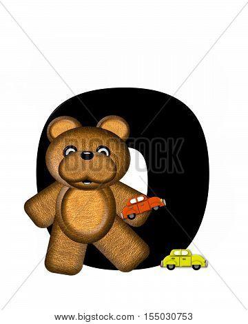 Alphabet Teddy Driving Cars O