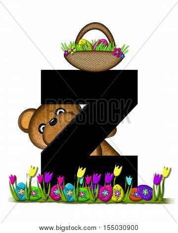 Alphabet Teddy Easter Egg Hunt Z