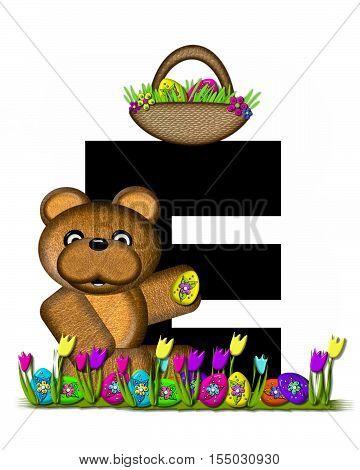 Alphabet Teddy Easter Egg Hunt E