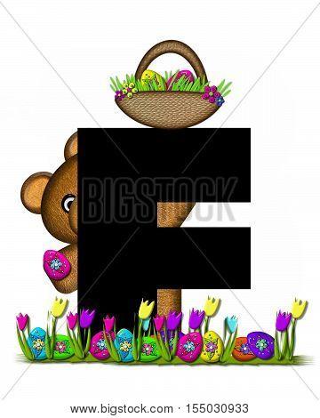 Alphabet Teddy Easter Egg Hunt F