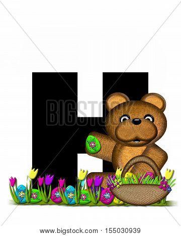 Alphabet Teddy Easter Egg Hunt H