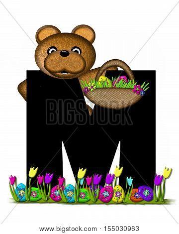 Alphabet Teddy Easter Egg Hunt M