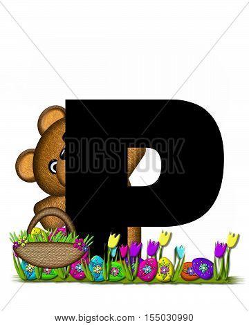 Alphabet Teddy Easter Egg Hunt P