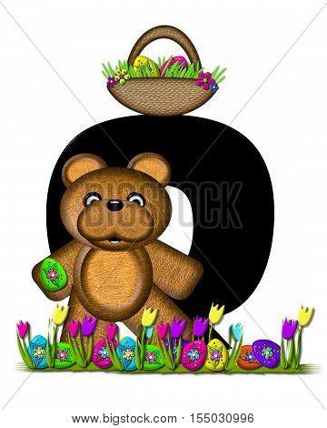 Alphabet Teddy Easter Egg Hunt Q