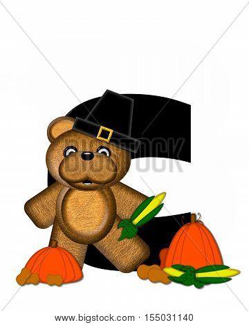 Alphabet Teddy Thanksgiving C