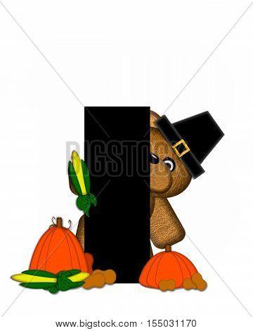 Alphabet Teddy Thanksgiving I