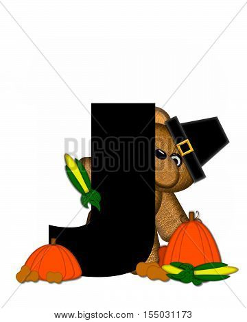 Alphabet Teddy Thanksgiving J