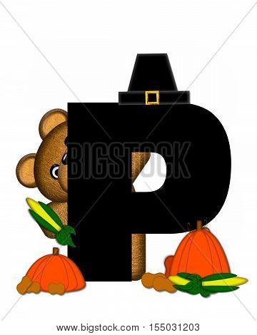 Alphabet Teddy Thanksgiving P