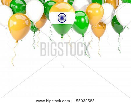 Flag Of India On Balloons