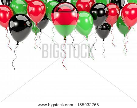 Flag Of Malawi On Balloons