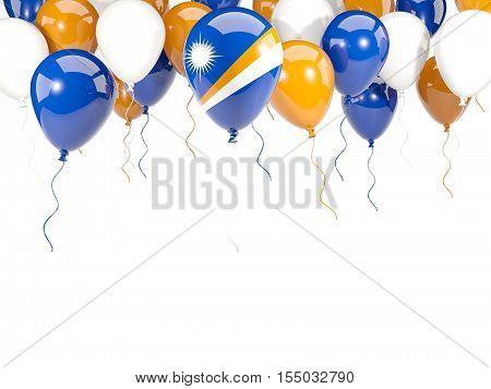 Flag Of Marshall Islands On Balloons