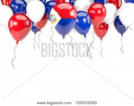 Flag Of Sint Maarten On Balloons