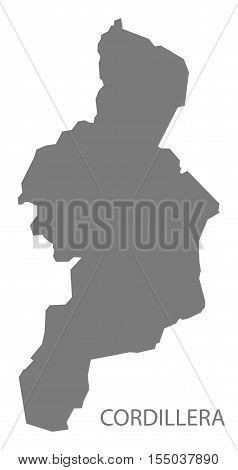 Cordillera Philippines Map in grey vector illustration