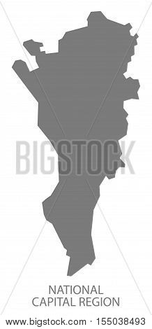 National Capital Region Philippines Map grey vector illustration