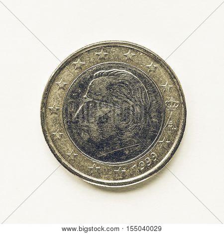 Vintage Belgian 1 Euro Coin