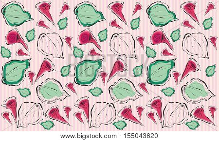 Abstract floral background with repeating elements editable and scalable vector illustration